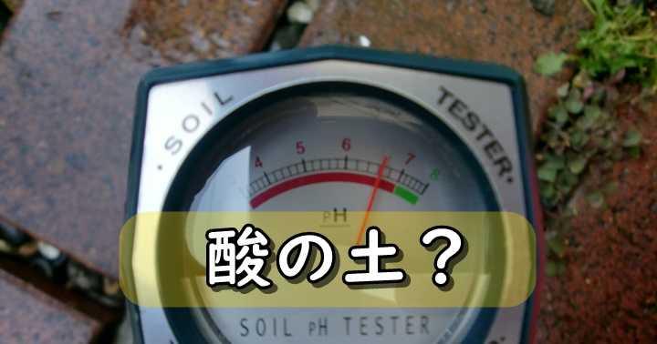 土 酸性度