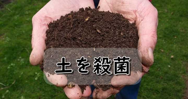 土の殺菌・消毒方法